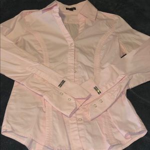 Light pink button-down dress shirt